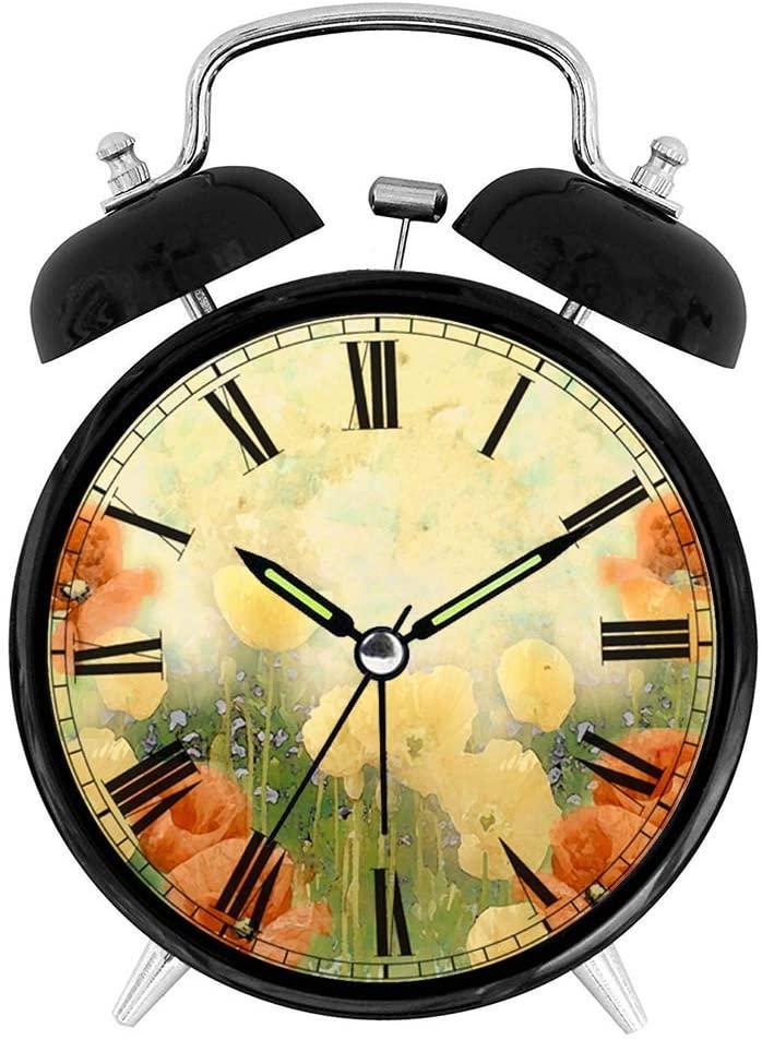 Sevenyee Botanical Clock - Colorful Flower Alarm Clock Loud - Bedroom Clock - Rustic Clock - 4
