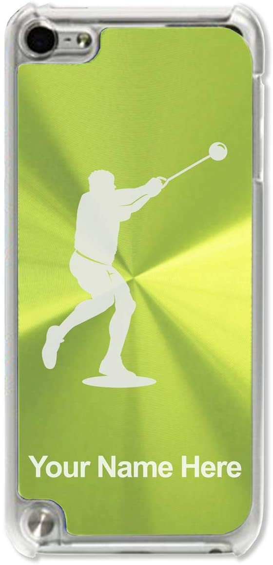 Case Compatible with iPod Touch 5th/6th/7th Generation, Hammer Throw, Personalized Engraving Included (Green)