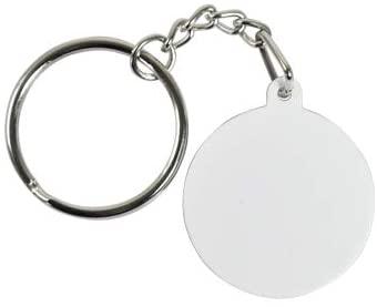 Polymer Round White Blank Sublimation Key Chain Heat Transfer Craft Key Ring 20 pcs 32x32x2mm