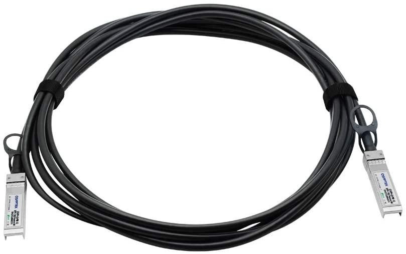 QSFPTEK 10G SFP+ DAC Cable, 5m (16ft) Passive Direct Attach Copper Twinax Cable for Cisco SFP-H10GB-CU5M, Ubiquiti, D-Link, Netgear, Mikrotik, Open Switch Devices