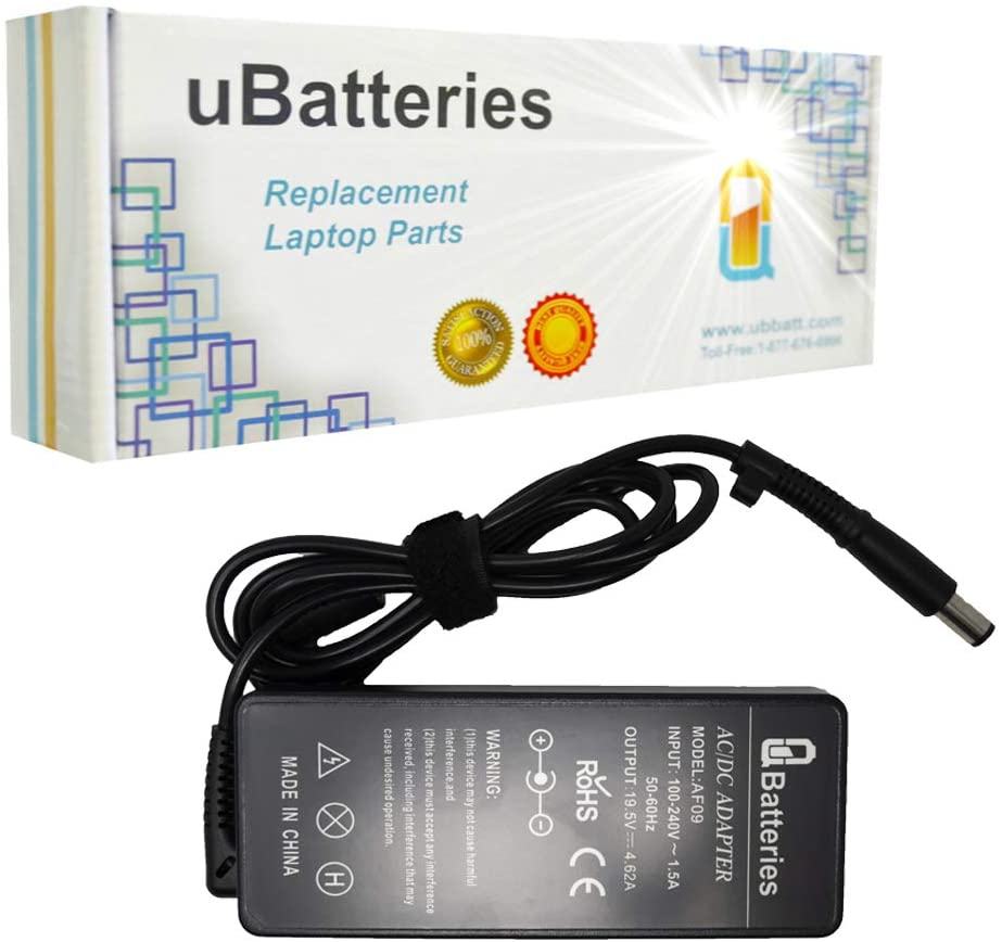UBatteries Compatible 19.5V 4.62A 90W AC Adapter Charger Replacement for HP Compaq 744893-001 391173-001 693712-001 LAC-HC45