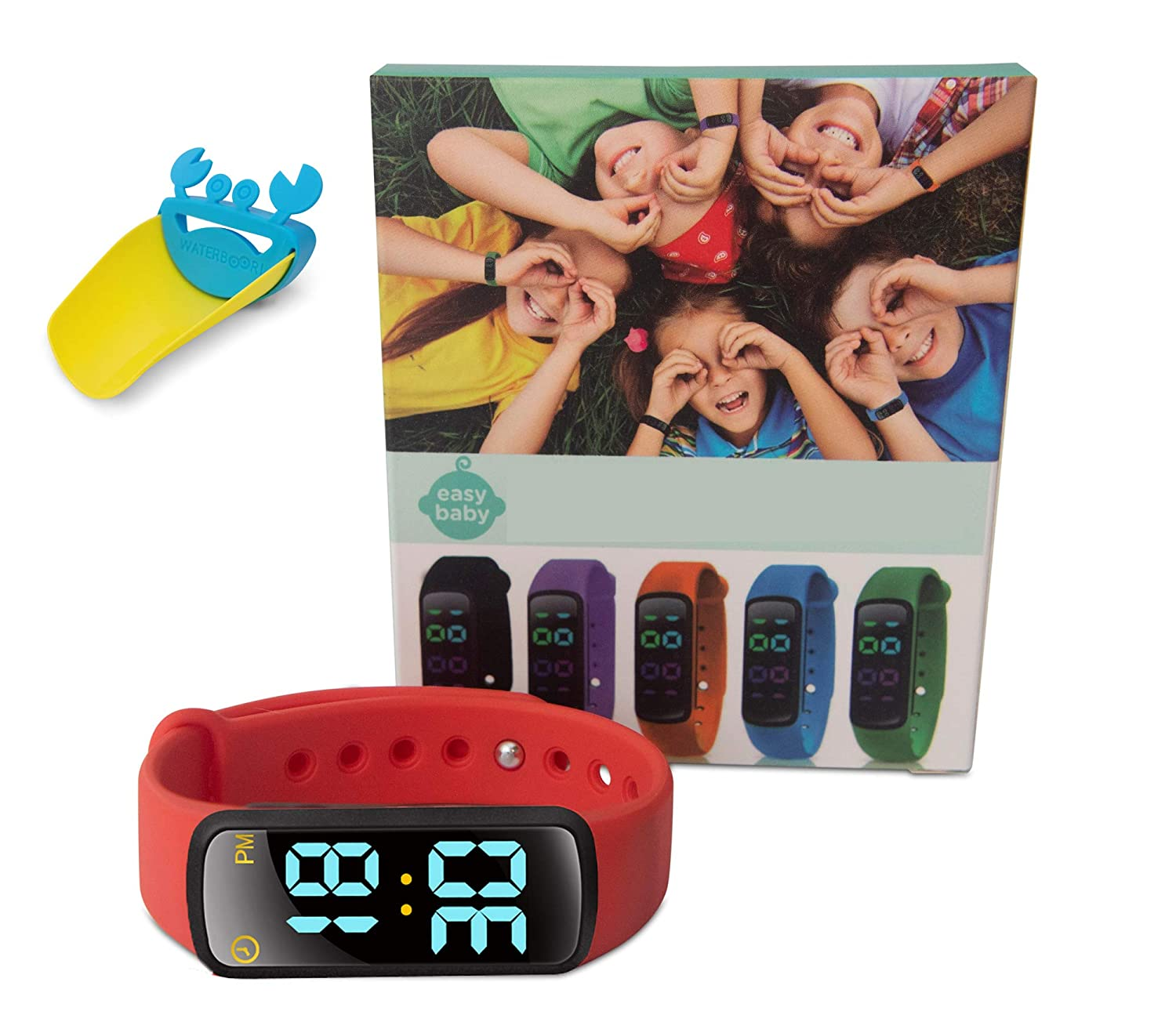 EZ Baby - Toddler Potty Training Watch - Non-Toxic, Waterproof, Rechargeable, Fun and Exciting Potty Training- Boys, Girls- (Red)