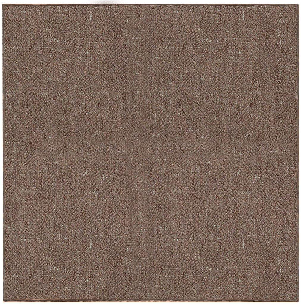 Ambiant Indoor Outdoor Area Rugs, Brown - 6' Square