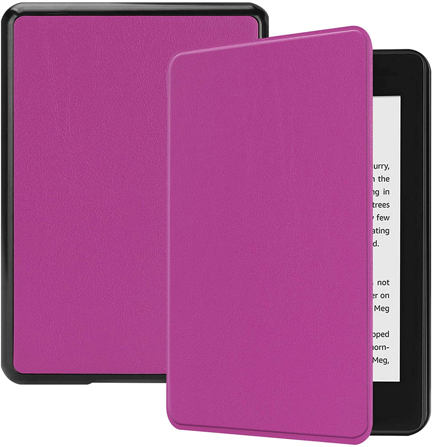 Lobwerk Cover for Kindle Paperwhite 10. Generation - 2018 6 Inch eBook Reader Flip Case with Auto Sleep/Wake Feature Purple