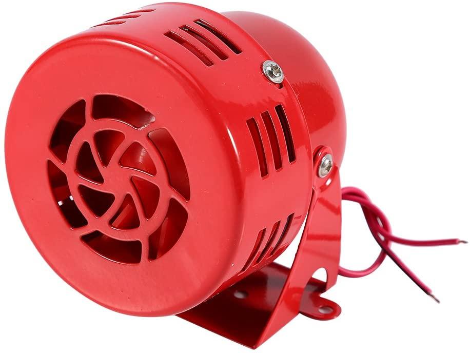 Yosoo 12V Electric Car Truck Motorcycle Driven Air Raid Siren Horn Alarm Loud 50s Red