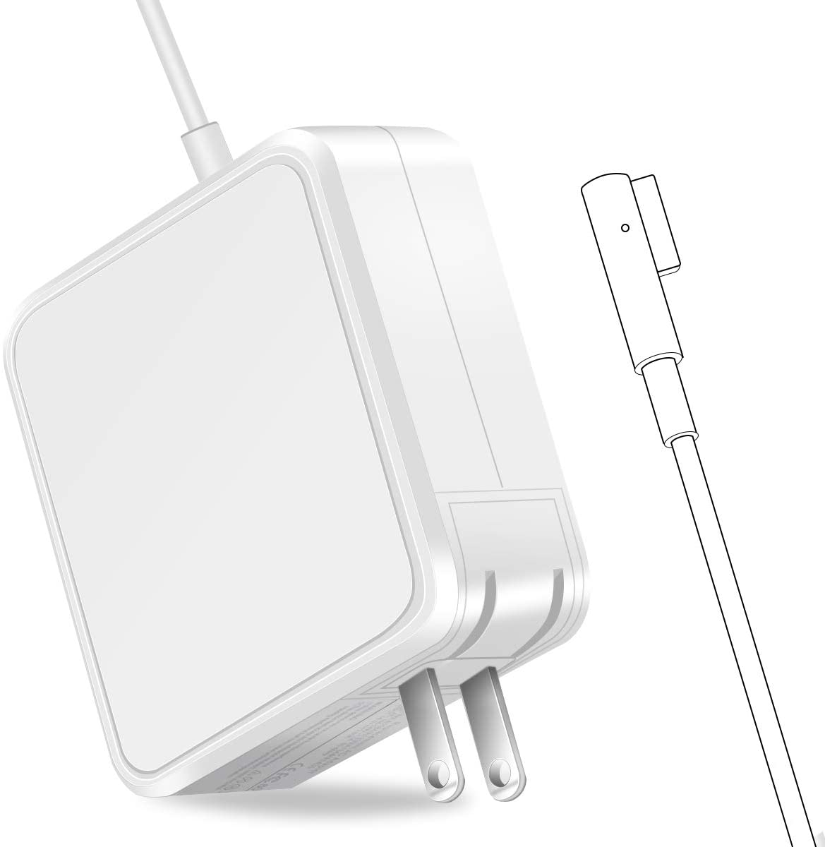 Mac Book pro Charger, AC 85w Magnetic L-Tip Power Adapter Replacement for MacBook Pro-13/15/17 Inch (Before 2012) (85W L-Tip)