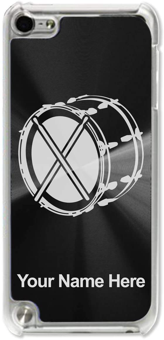 Case Compatible with iPod Touch 5th/6th/7th Generation, Bass Drum, Personalized Engraving Included (Black)
