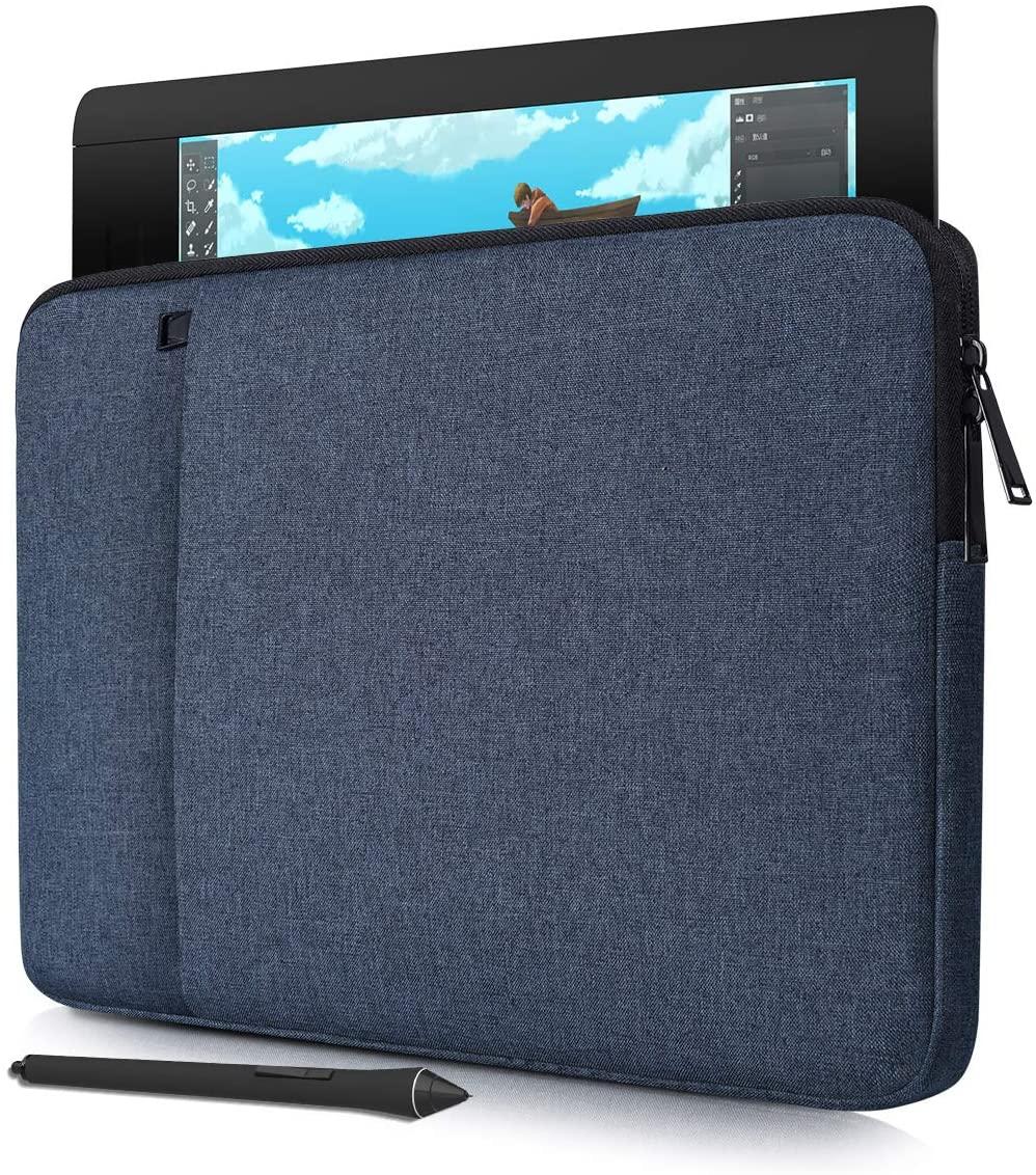 Waterproof Drawing Graphics Tablet Sleeve Protective Case for Huion H610 Pro V2, Wacom Intuos Pro/Wacom Cintiq Pro 13/Wacom One, XP-Pen Deco 01 V2,VEIKK A30 A50(Navy Blue)