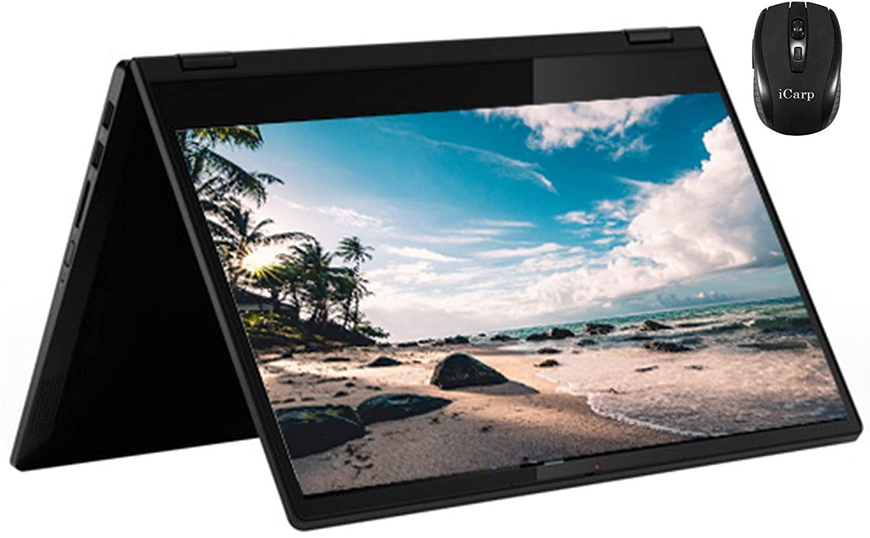 "2020 Flagship Lenovo Flex 14 2 in 1 Business Laptop 14"" FHD IPS Touchscreen 10th Gen Intel Quad-Core i7-10510U 16GB RAM 512GB SSD Backlit Keyboard Fingerprint USB-C HDMI Win10 + iCarp Wireless Mouse"