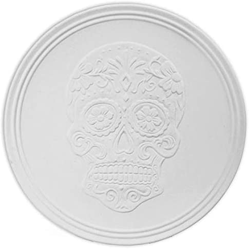 Day of The Dead Skull Detailed Serving Dish - Paint Your Own Ceramic Keepsake