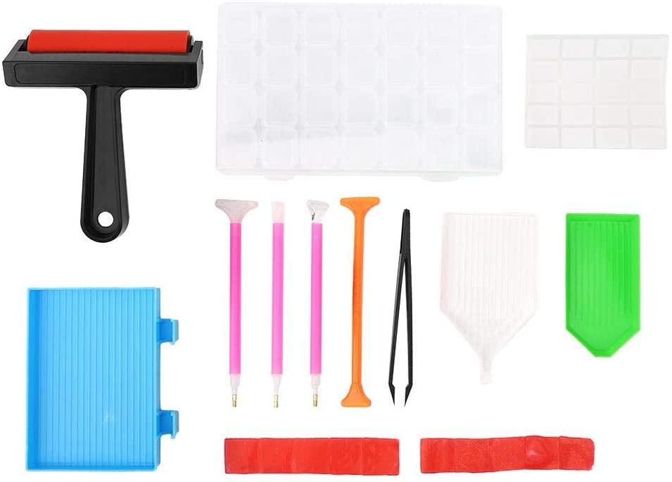 Yosoo Plastic Painting Kit 22Pcs Diomand Painting Tool DIY Accessories Set Roller Storage Box for Adult Kid DIY Use