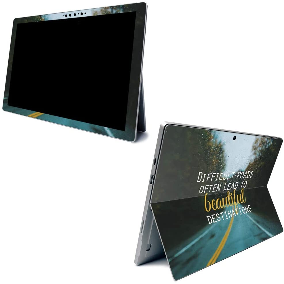 MightySkins Skin for Microsoft Surface Pro 7 - Difficult Road | Protective, Durable, and Unique Vinyl Decal Wrap Cover | Easy to Apply, Remove, and Change Styles | Made in The USA