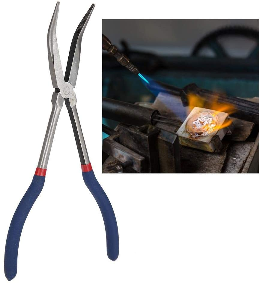 11 Inch Portable Professional Grade Casting Tongs, Crucible Tongs, for Melting for Casting Silver Recycle Gold Recycle