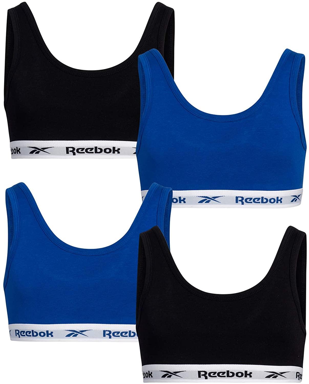Reebok Girls Cotton Stretch Spandex Bralette (4 Pack)