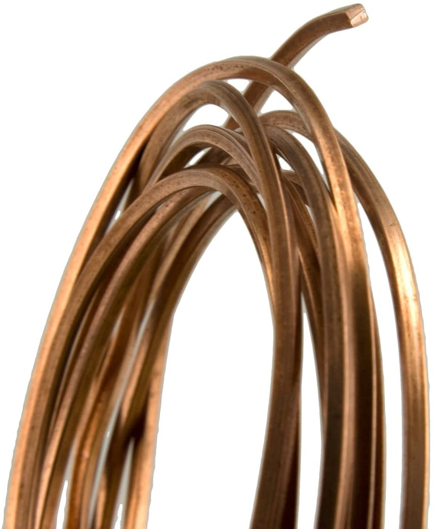 20 Gauge Square Half Hard Copper Wire - 25FT