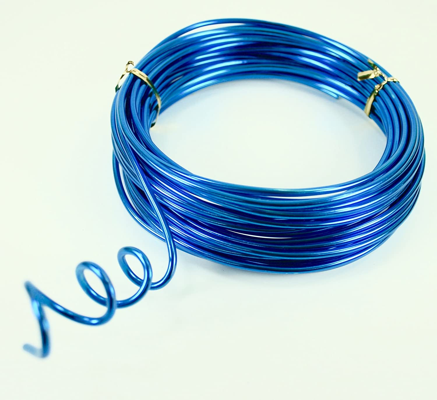 TURQUOISE Aluminum Wire Crafting, Floral or Jewelry Making embellishments 10 YDS