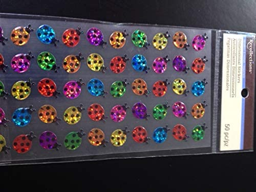 Recollections Acrylic Multi-Colored Ladybugs - 50 pcs