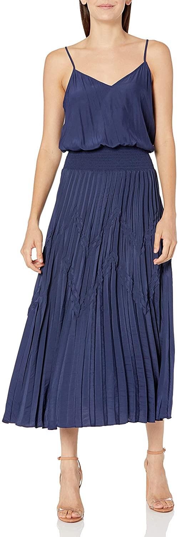 Ramy Brook Women's Joanna Sleeveless Midi Dress with Pleating