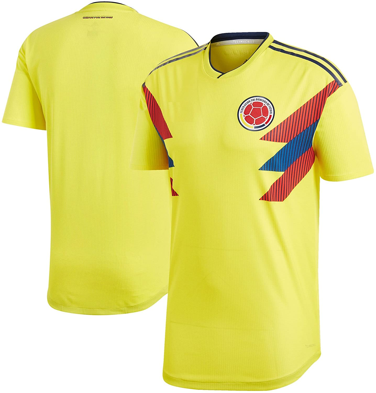 Kitbag Colombia Home Men's Soccer Short Sleeve Jersey T-Shirt World Cup Adult Sizes ✓ Best Gift for Soccer Fans