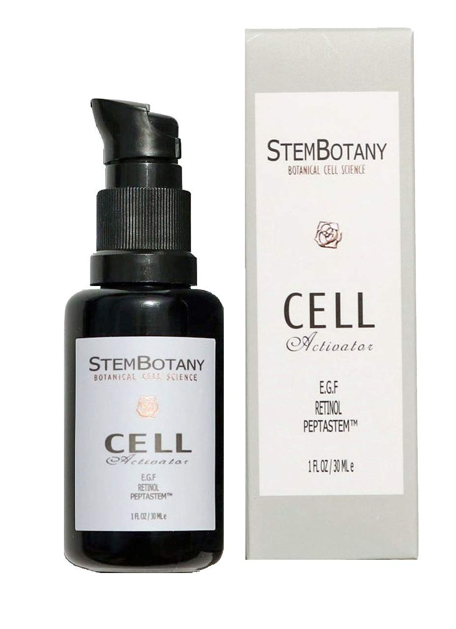 STEMBOTANY Stem Cell Face Serum with EGF, Hyaluronic Acid, Retinol and Patent Pending PEPTASTEM (Peptide 1,5,7,8 & Orange Stem Cell) with 70% Organic Face Serum (CELL activator)