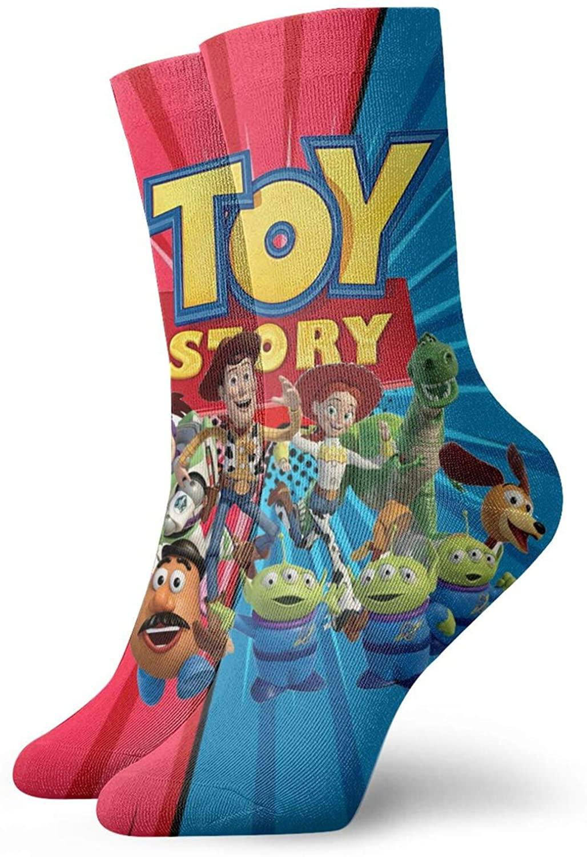 Toy 4 S-Tory Socks, 3d Print Socks Football Compressed Socks Non-Slip Sport Socks For Running