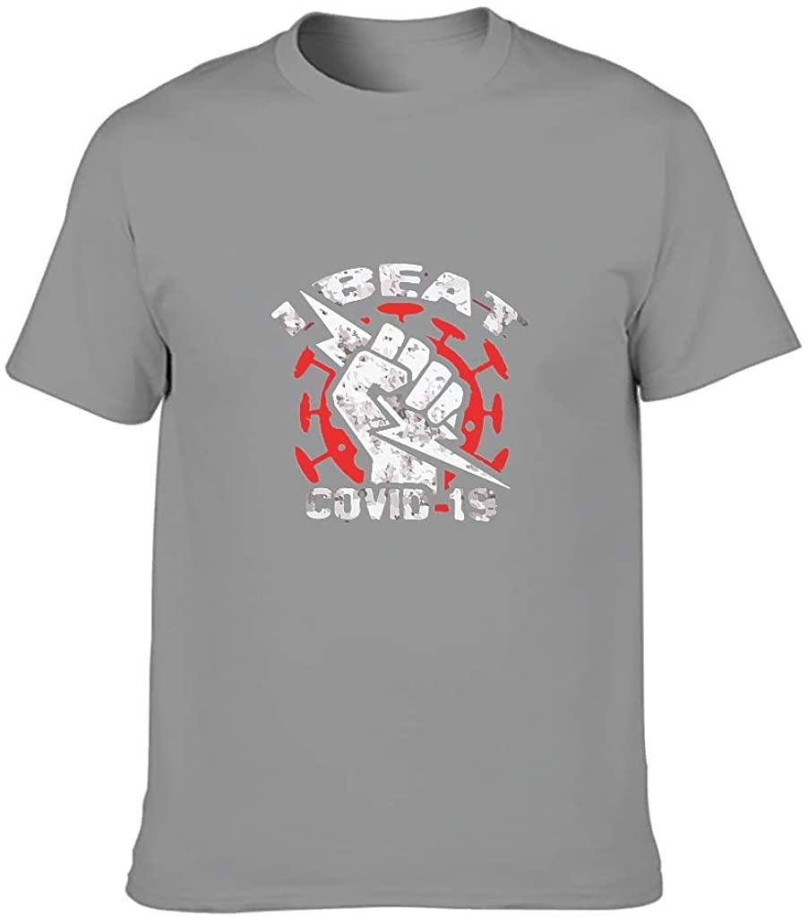 Men's I Beat 2020 Cotton T-Shirt - Sweethearts Outfit Short Sleeve Shirt