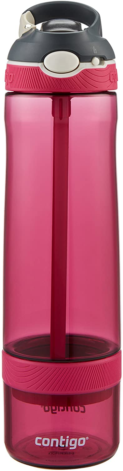 Contigo AUTOSPOUT Straw Ashland Water Bottle with Infuser, 26 oz., Very Berry