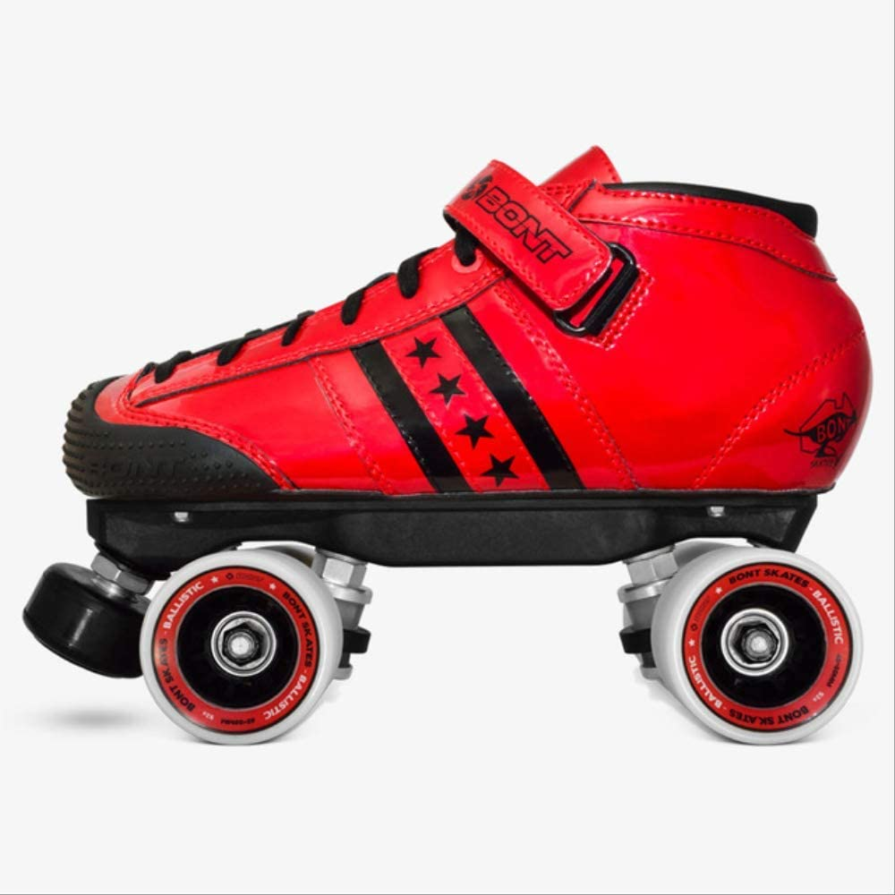 Lc Quadstar Roller Skate Quad Skate Derby Skate Package 7.5 Red Black