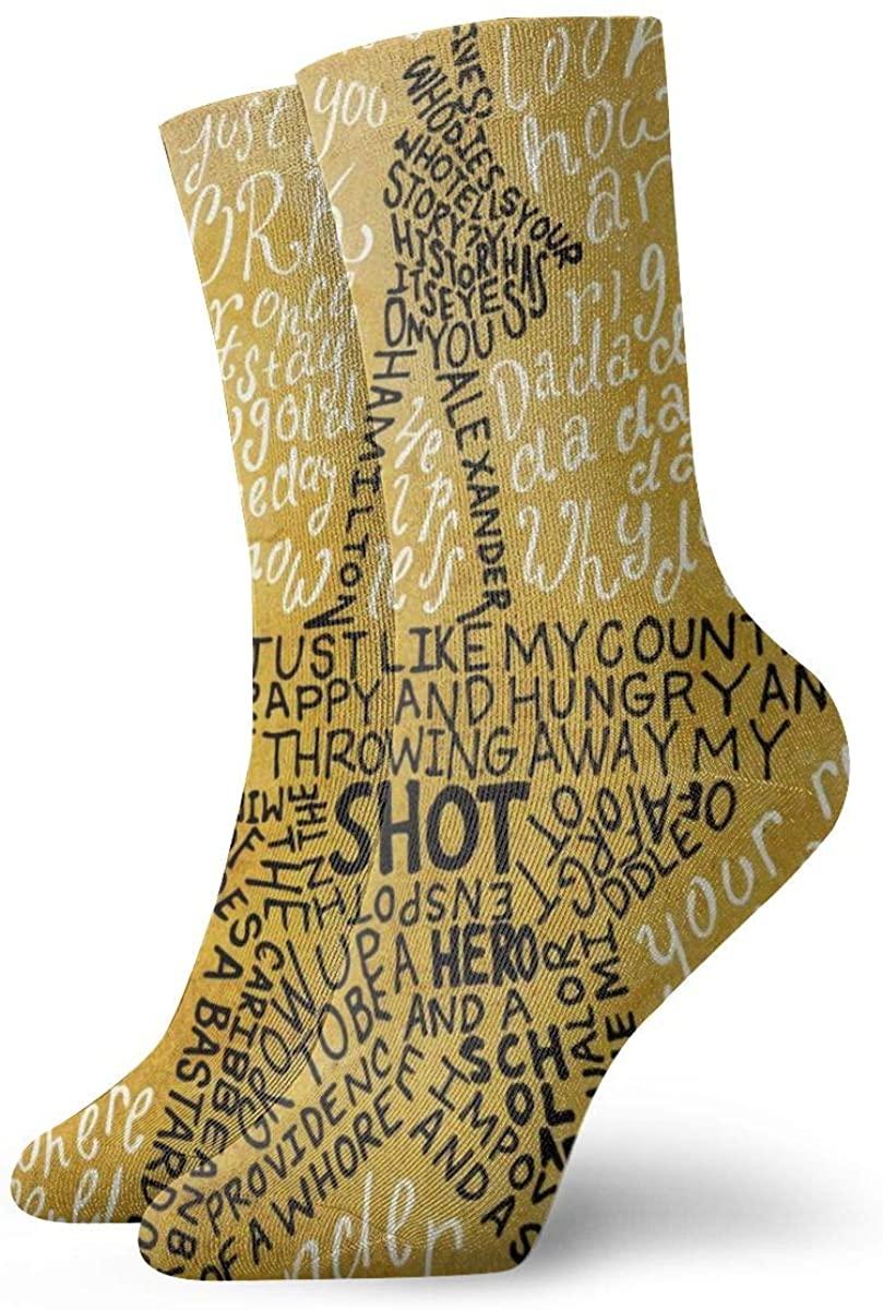 Hamilton Socks, 3d Print Socks Football Compressed Socks Non-Slip Sport Socks For Running