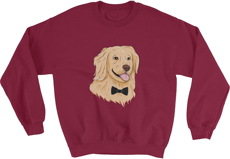 The Jazzy Panda Men's Golden Retriever Crewneck | Funny Dog Sweatshirt