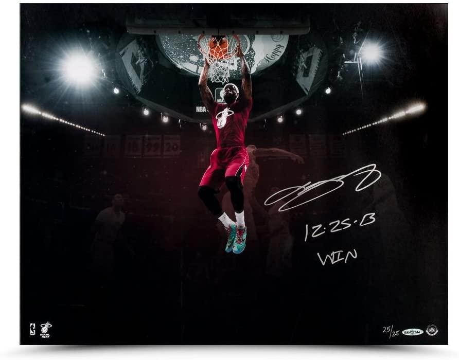 "LeBron James Autographed & Inscribed ""Christmas Jam"" 16 x 20 - Upper Deck - Autographed NBA Photos"