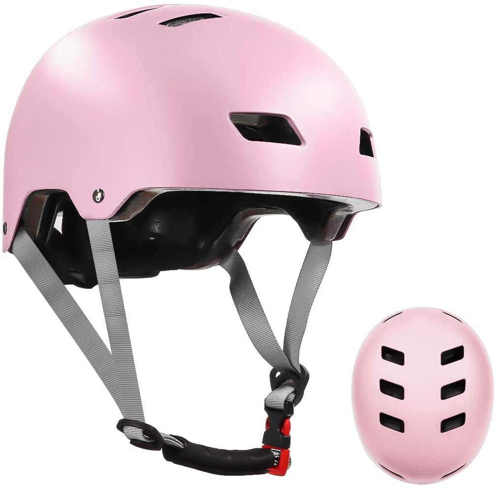 LANOVAGEAR Bike Skateboard Helmet for Kids Youth & Adults with ASTM & CPSC Certified Two Removable Liners for Multi-Sport Scooter Roller Skate Inline Skating Rollerblading