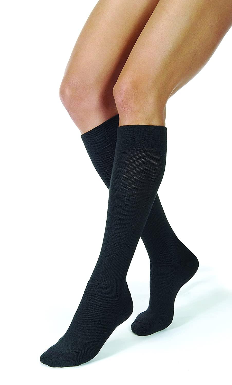 JOBST Activewear Compression Socks, 30-40 mmHg, Knee High, X-Large, Black