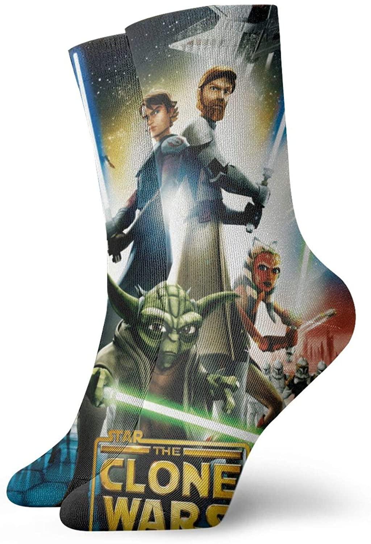 Star W The C-Lone W-Ars Socks, 3d Print Socks Football Compressed Socks Non-Slip Sport Socks For Running