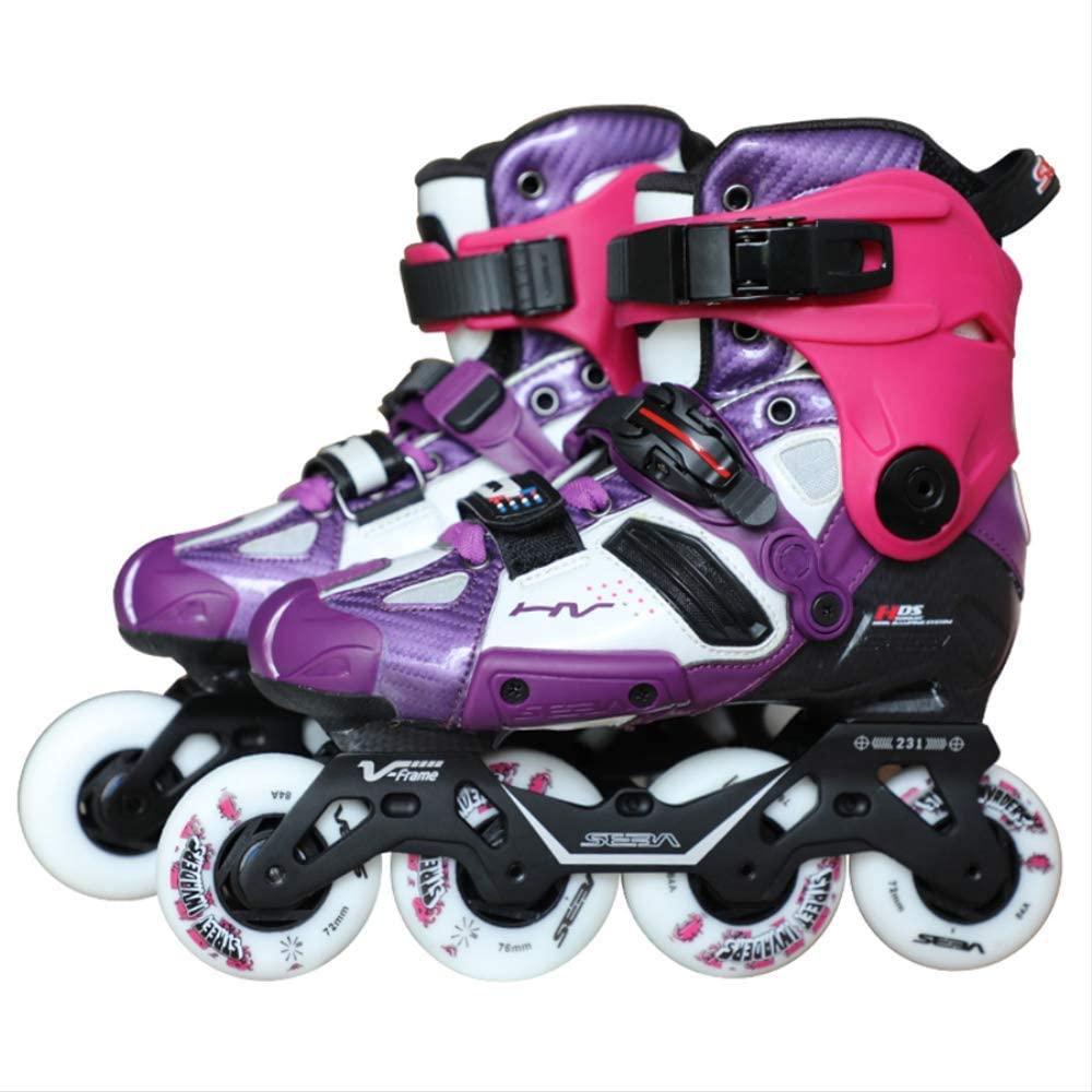 100% Original 2019 SEBA High V-Frame Purple Adult Inline Skates Roller Skating Shoes Slalom Sliding FSK Patines Adulto Japy 8 Purple