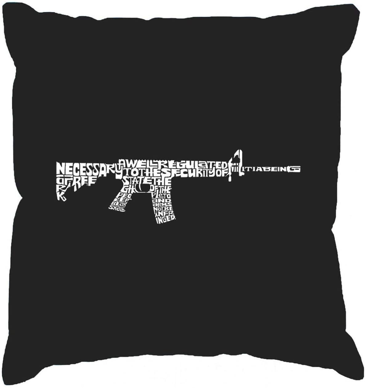 EricauBird Throw Pillow Cover- Throw Pillow Cover Word Art AR15 2nd Amendment Word Art, 18x18