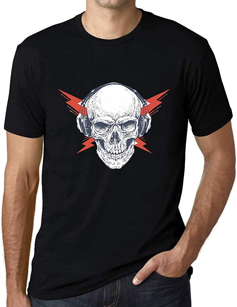 Ultrabasic Graphic Mens T-Shirt - Headphones on Skull - Funny Shirt for Musician