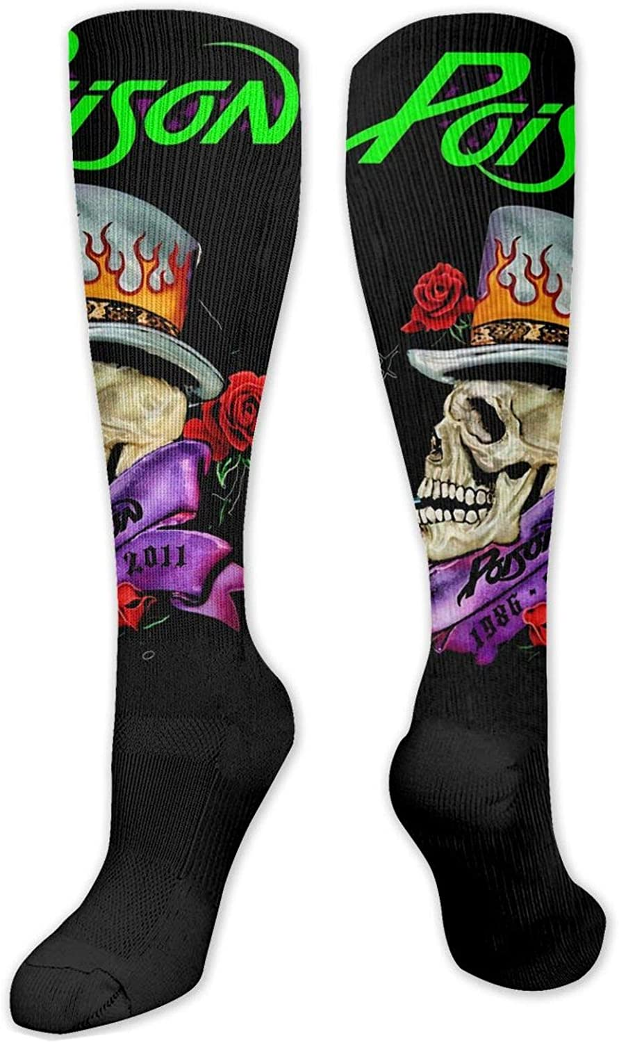 P-O-I-S-O-N Knitted Socks Are Not Tight Legs, Knitted Socks Are Not Easy To Slip Off, Light, Wear-Resistant, Sweat-Wicking