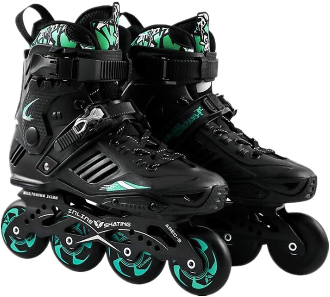 Professional Smooth Sliding Inline Skates Adult Skating 4 Wheels Roller Skate Shoes Men Women Flat Braking Shoes