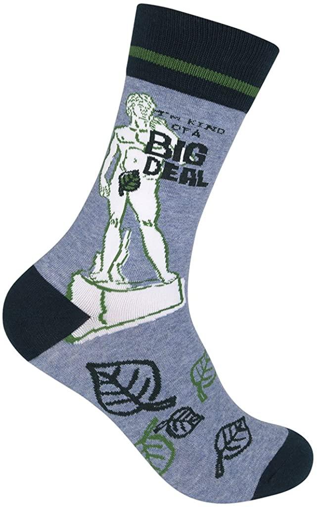Funatic: I'm Kind Of A Big Deal Socks - Funny Socks - Confident Outfit - Anchorman Unisex Crew Sock - I'm kind of a big deal slogan