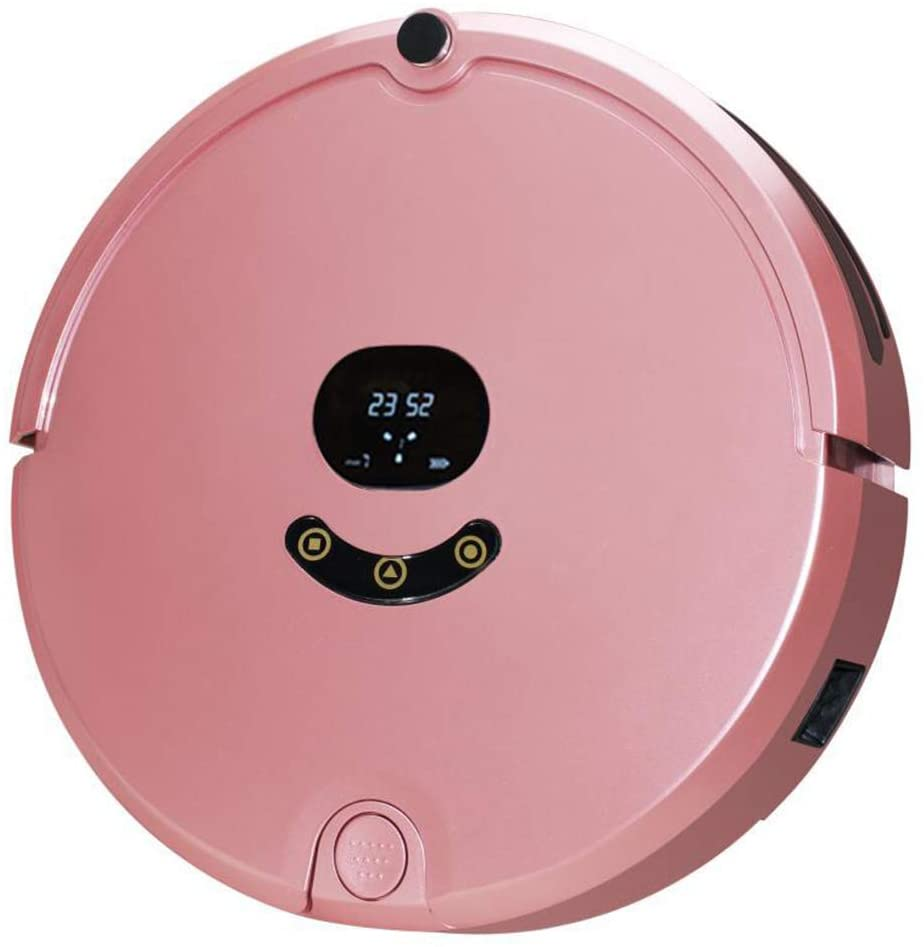 Libobo-001 Robot Vacuum Cleaner, 1200PA Suction, APP Control with Intelligent Navigation, Long-Lasting Battery Anti-Collision, Household Floor, Carpet Hair,Pink