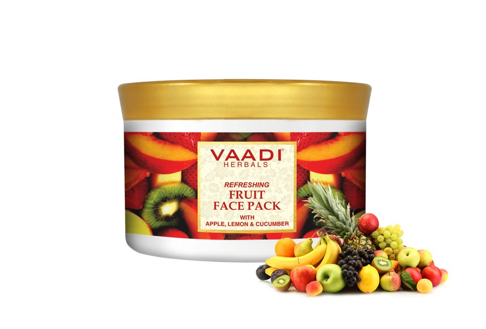 Vaadi Herbals Refreshing Fruit Face Pack Herbal Face Pack All Natural Paraben Sulfate Free Suitable For All Skin Types Value Pack Of 600Gms (21.16 Oz)