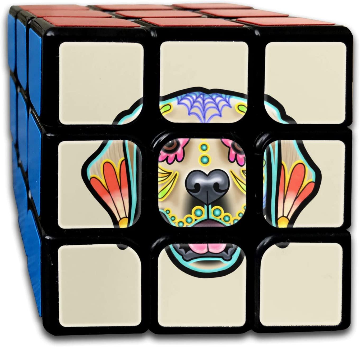 Golden Retriever - Day of The Dead Sugar Skull Dog Rubiks Cube One Size