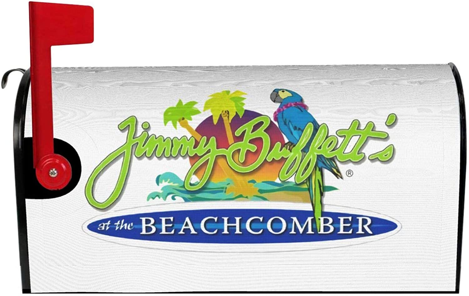 Fejarx Jimmy Buffett Magnetic Decorative Letter Paper Vintage Mailbox Protector