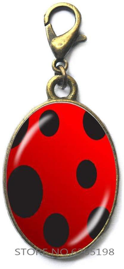 Ladybug Zipper Pull, Ladybird Charm Gift, Ladybird Jewelry, Lady Bug Zipper Pull, Ladybug Gifts, Woman Zipper Pull,Ladybird Jewelry,Insect Zipper Pull,N087