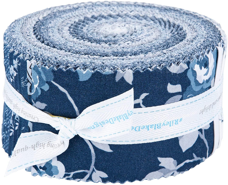 Riley Blake Precut Fabric Tranquility Rolie Polie 2.5