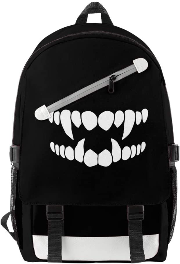STKCST Anime Emoticon Pack USB Charging Port Travel Shoulder Bag Student Campus Youth Popular Men and Women Backpack Portable Leisure Fashion Backpack