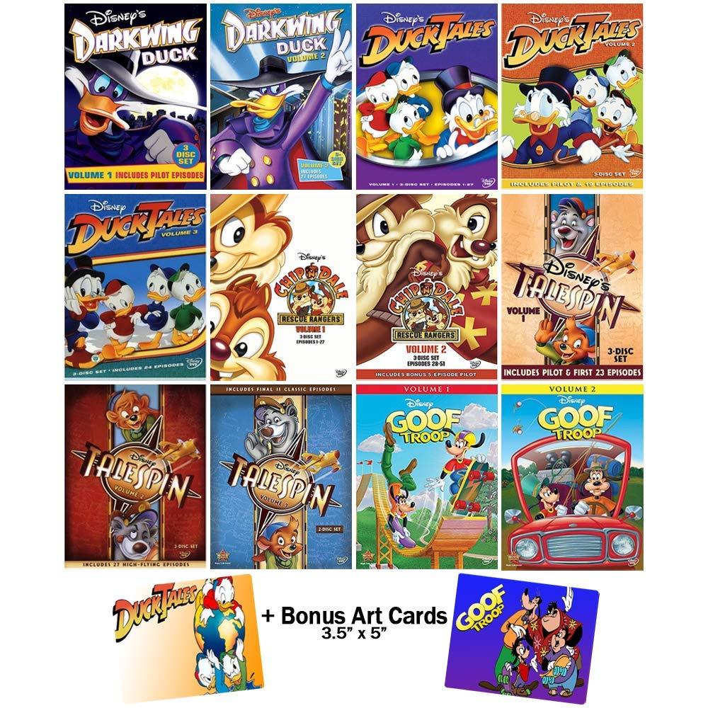 Classic Disney Cartoons Master Collection: 12 DVDs (Darkwing Duck / DuckTales / Chip N Dale / TaleSpin / Goof Troop) + Bonus Art Cards