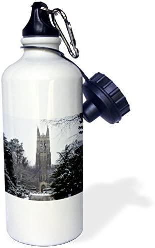Moson Water Bottle Gift, Duke University Chapel Durham White Stainless Steel Water Bottle for Women Men 21oz
