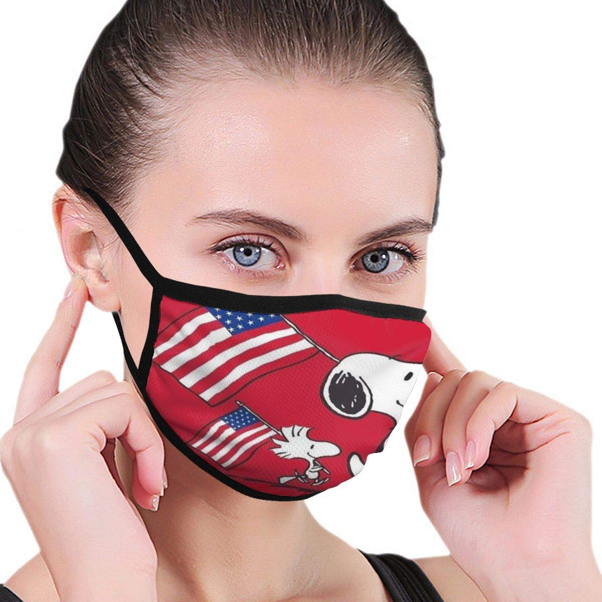 Snoopy Reusable And Protective Various Cute Patterns Facial Covering Face Bandanas For Unisex (Child Over 12 Years Of Age)